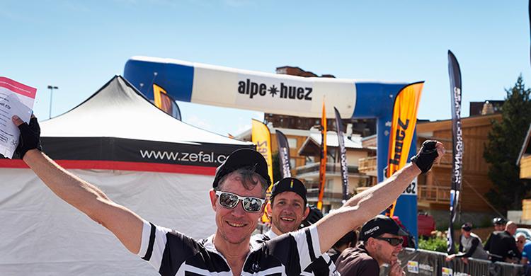 Toppen af Alpe d'Huez